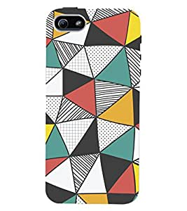 ColourCrust Apple iPhone 5S Mobile Phone Back Cover With Abstract Style Modern Art - Durable Matte Finish Hard Plastic Slim Case