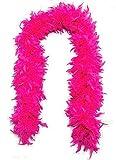 y2 Elegant n Unique - Fluffy 6 foot Feather BOA Hot Pink