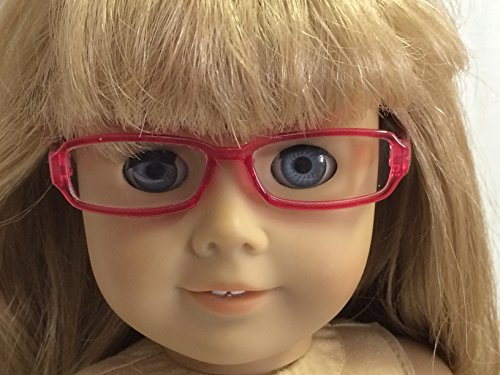 Pink Rimmed Eyeglasses made for 18 inch American Girl Dolls - 1