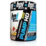 BPI Sports Pump HD Pre-Training Power and Energy Fuel Powder, Wicked Fruit Blast, 8.8 Ounce