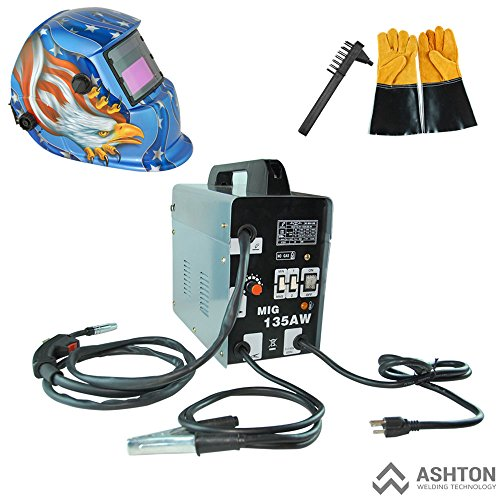 Purchase Commercial 115v Mig 130 135 Amp Automatic Feed Flux Core Gasless Welder Mig-135aw American ...