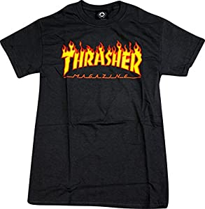 Thrasher Flame Black Medium T-Shirt