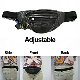 Leather waist pack bag pouch