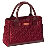 Sachi Fashion Insulated Lunch Bag, Burgundy Quilted