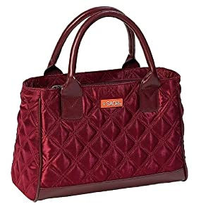 Amazon.com: Sachi Fashion Insulated Lunch Bag, Burgundy Quilted ...