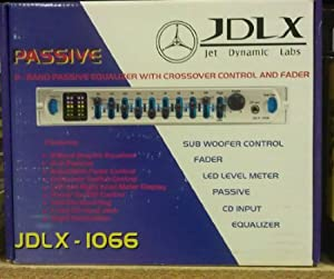 JDLX JDLX-1066 9 BAND PASSIVE GRAPHIC EQUALIZER