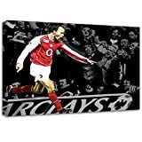 Dennis Bergkamp Arsenal Football Canvas Art Print Poster
