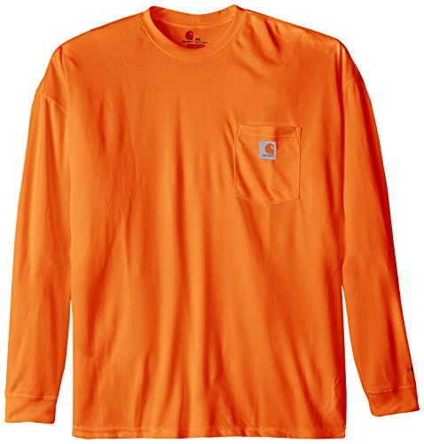 Carhartt Men's High Visibility Force Color Enhanced Long Sleeve Tee,Brite Orange,X-Large