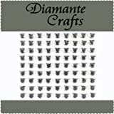 81 x 6mm Clear Diamante Hearts Self Adhesive Rhinestone Craft Embellishment Gems - created exclusively for Diamante Crafts