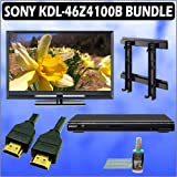 Sony Bravia Z-Series KDL-46Z4100B 46in. 1080P Black LCD TV + Sony DVD Player w/ Wall Mount Accessory