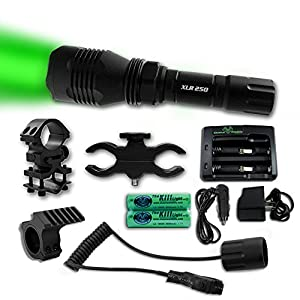 The Kill Light® XLR250 Gun Mounted Hunting Light, Green