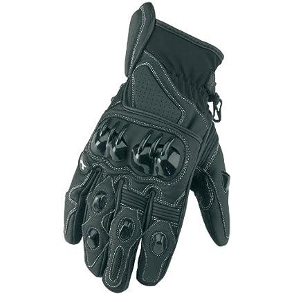 Gants en cuir Moto Spada Vortex II-Noir