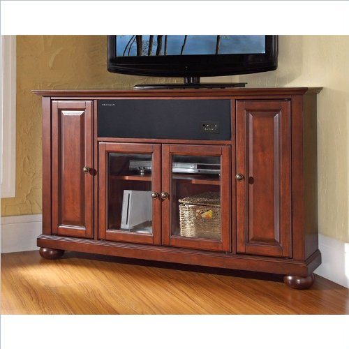 Crosley Furniture Alexandria 48-Inch Corner Aroundsound Tv Stand, Vintage Mahogany