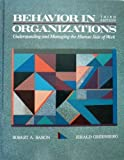 Behavior Organizations [@@ Baron/Greenber (0205121616) by Baron, Robert A