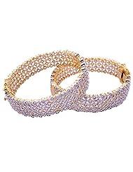 Goonj The Rhythm Of Jewels Fancy CZ Bangles For Women B83 (Size 2.4)