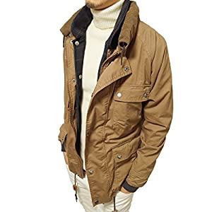 (ジーアールエヌ) grn ミリタリージャケット メンズ リバーシブルベスト付き アーミーツイル ハンティングジャケット