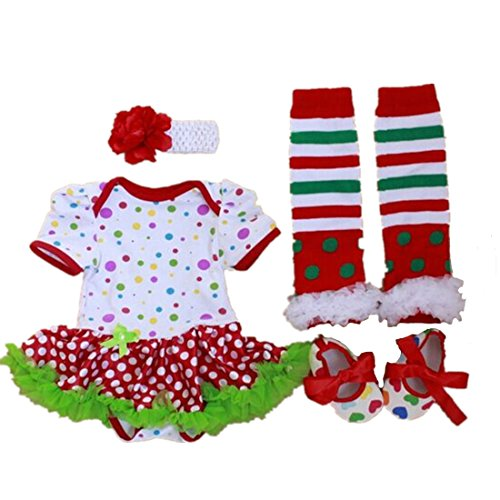 4PCS Baby Girl Halloween Hat Design Dress Outfit Clothes