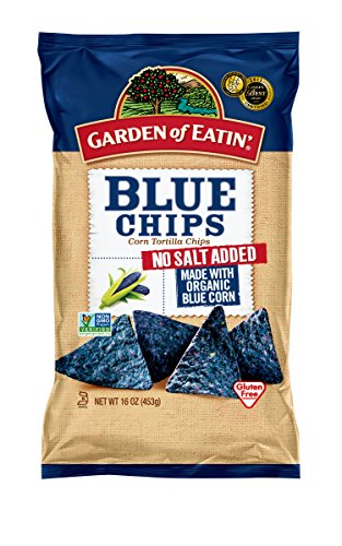 Garden of Eatin' Blue, No Salt Added, Corn Tortilla Chips, 16 Ounce (Pack of 12) (Blue Corn Tortillas Non Gmo compare prices)
