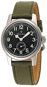 Bulova Men's 96A102 Canvas Strap Watch by Bulova