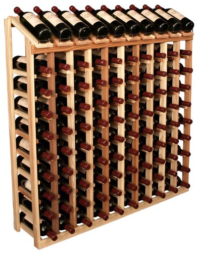 Wooden 100 Wine Bottle Display Top Wine Rack Storage Kit (Premium Redwood)