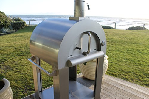 Outdoor Wood Fired Pizza Oven - Complete Package in Stainless Steel