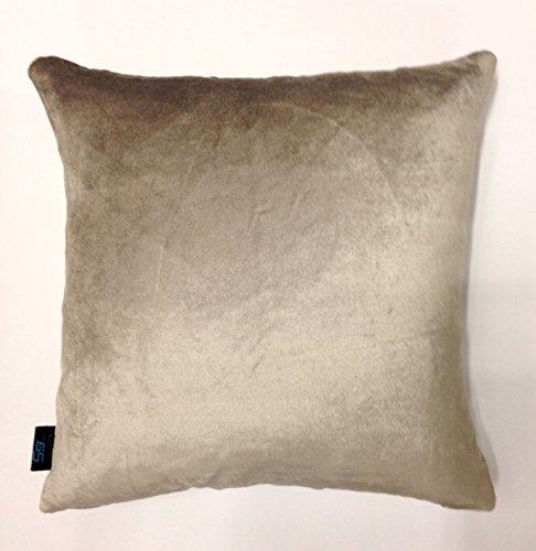 S9home by Seasons Grey Plain Velvet Cushion Cover