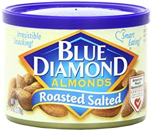 Blue Diamond Almonds Roasted With Sea Salt, 6-Ounce Tins (Pack of 12)