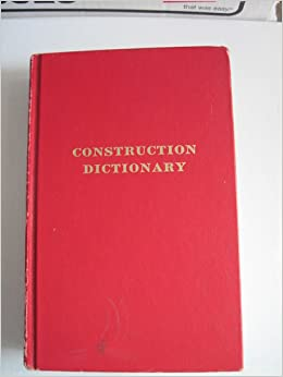 Construction dictionary construction terms tables for Building dictionary
