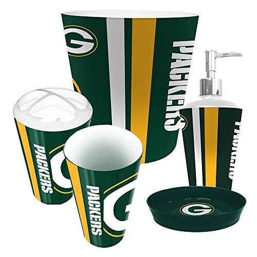Details Of Green Bay Packers 5 Piece Bathroom Set
