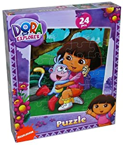 Dora the Explorer Jigsaw Puzzles Game Rompecabezas De Nickelodeon Play Kids Learn Toys Boots
