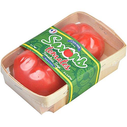 Savons Tomate Rouge Cagette de 2 Parfum feuille de tomate La petite épicerie de Paris 35-1S-815
