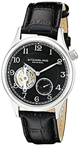 Stuhrling Original Men's 983.02 Legacy Analog Display Mechanical Hand Wind Black Watch