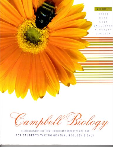 Campbell Biology Second Custom Edition for Oakton Community College