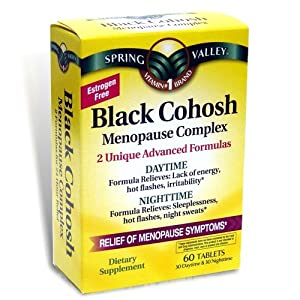 Black Cohosh Menopause Complex, 60 Tablets, Daytime and Nighttime Advanced Formula
