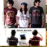 【ユニセックス】 (クリフメイヤー) KRIFF MAYER インディアンフェイス 刺繍 半袖アメカジTシャツ