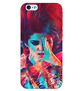 PrintDhaba PATTERN GIRL D-6219 Back Case Cover for APPLE IPHONE 6S (Multi-Coloured)