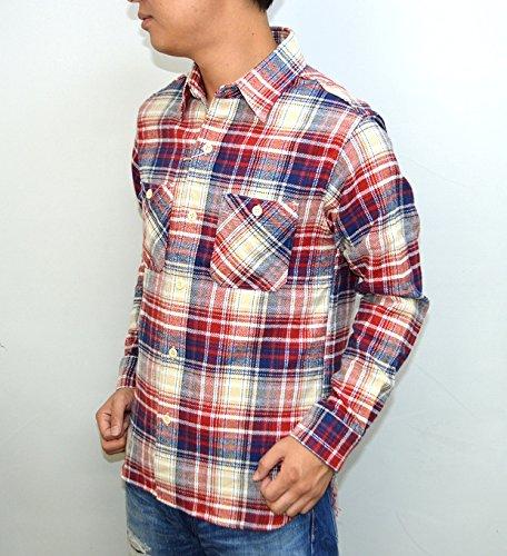 シュガーケーン SUGAR CANE SC27394 長袖チェックシャツ ツイル フランネルネルシャツ ワークシャツ 東洋エンタープライズ レッド色 東洋エンタープライズ アメカジ