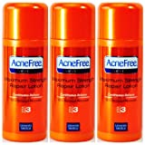 Acnefree Severe Maximum Strength Repair Lotion 10% Benzoyl Peroxide 3 X 2 Oz = 6 Oz