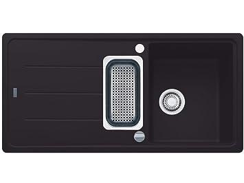 franke basis bfg 651 graphit granit sp le dunkelgrau k chensp le sp lbecken 60cm dee947. Black Bedroom Furniture Sets. Home Design Ideas