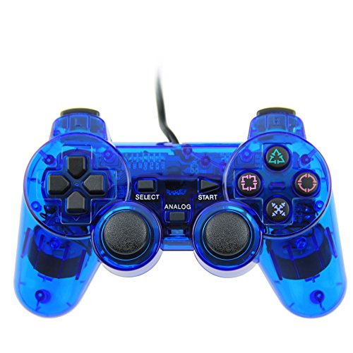 Wired USB Controller Double Vibration For PC Computer Laptop Blue