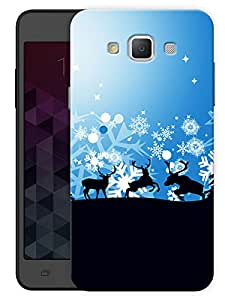 "Humor Gang Reindeers Printed Designer Mobile Back Cover For ""Samsung Galaxy A7"" (3D, Matte, Premium Quality Snap On Case)"
