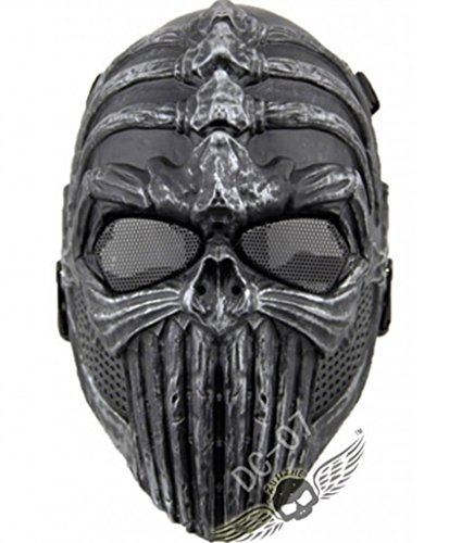 caxa Spine Airsoft Wargame Skull Face Protect Cosplay Tactical Mask