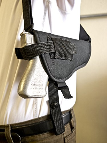 Outbags OB-16SH (RIGHT) Nylon Horizontal Shoulder Holster with Double Mag Pouch for Glock 17 / 19 / 22 / 23 / 32 / 33 / 38, Springfield XD9 / XD45, ISSC M22, Beretta PX4, Walther P22 / P99, S&W M&P, H&K P30, FN FNP-9 / FNP-45, Sig Sauer P220 / 225 / 226 / 228 / 229 / 238, Ruger SR9 / SR40, CZ-U CZ-75 / CZ-85, Ruger P89 / 95 / 3312 / 3473