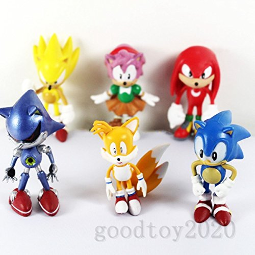 6pcs LOT Sonic the Hedgehog Mini Figure Loose for Gift