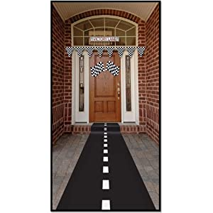 Racetrack Runner (poly w/double-stick tape) Party Accessory  (1 count) (1/Pkg)