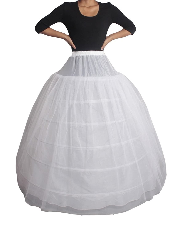 XYX Frauen-Hochzeits PetticoatUnderskirt Schlupf Krinoline 6 BAND 2 Layer WEISS XS-M online kaufen