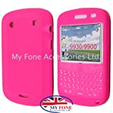 Pink Keypad Soft Silicone Rubber Case Cover For BlackBerry Bold Touch 9900 / 9930 From My Fone UK
