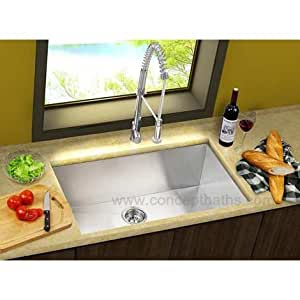 23 stainless steel zero radius undermount single bowl for High quality kitchen sinks