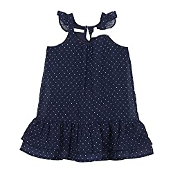 EIMOIE Girls Gathered Dress (Navy)