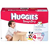 Huggies Snug & Dry Diapers, Size 4, Giant Pack, 140 Count ~ Huggies